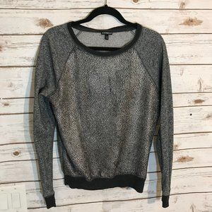 Express Women's Sweater Gray & Silver Size S/P